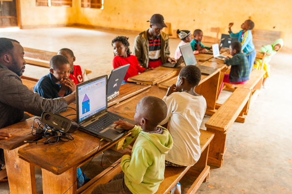 Gilat's extensive connection helps students connect to the Internet in Cameroon.  Photo: Shutterstock